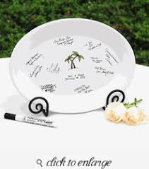 wedding guest book platter palm trees guest book platter with optional easel guest book