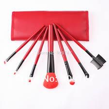 2014 new professional purple black green red 7 pcs makeup brush