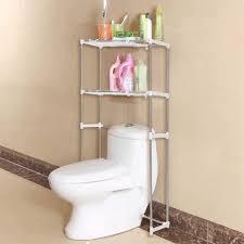 Bathroom Standing Shelves by Bathroom Shelves Over Toilet White Finish Stained Wooden Door