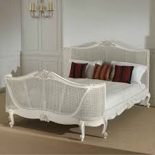 Antique King Bed Frame White Painted Wicker California King Bed Frame Which Furnished