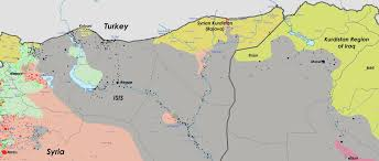 Map Of Iraq And Syria by October 2014 Peoples U0027 Democratic Party In English