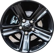dodge ram with black rims aly2453u45 2559hh dodge ram 1500 wheel black painted 1ub18trmaa