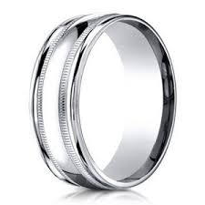 palladium mens wedding band men s milgrain palladium wedding ring 6mm just men s rings