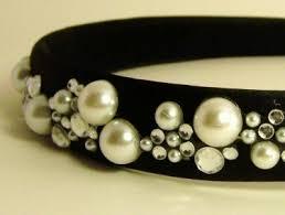 handmade headbands satin black headband handmade with pearls and rhinestones meylah