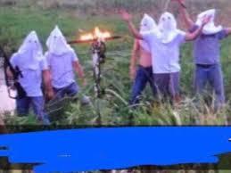 Klux Klan Halloween Costume Photo 5 Males Kkk Hoods Leads Discipline Students