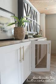 diy kitchen cabinets kreg diy media cabinet built in that looks great and hides