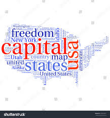 Usa State Map by Usa State Map Tag Cloud Vector Stock Vector 293403812 Shutterstock