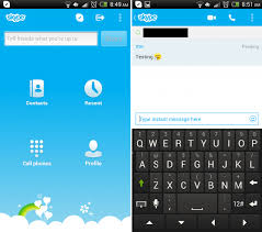 most recent android update skype upgrades the app skype for android to version 4 4