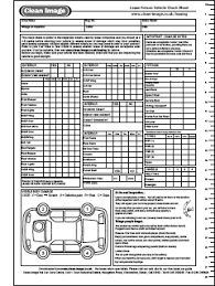 Vehicle Service Sheet Template by East Coast Connectons