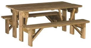 wood table bench combo swingsets luxcraft poly furniture