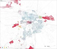 Pretoria South Africa Map by Map Pretoria Population Density By Race South African History