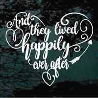wedding quotes happily after and they lived happily after wedding quote decals wedding
