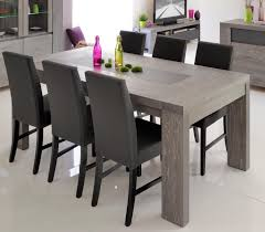 Grey Dining Room Furniture Grey Wood Dining Table Regarding Great Tables Inspiring Decor 1