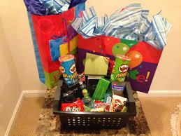 Gamer Gift Basket Gift Ideas For Bf Birthday Diy Birthday Gifts
