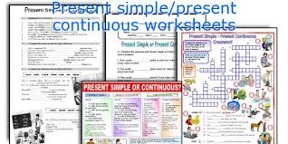 english teaching worksheets present simple present continuous