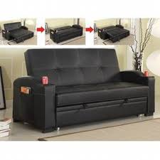 Leather Like Sofa Best Quality Black Leather Like Vinyl Upholstered Folding Futon