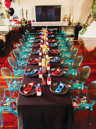Avengers Table And Chairs Avengers Inspired Superhero Birthday Bash Hostess With The Mostess