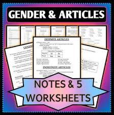 spanish definite articles worksheet worksheets