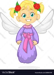 christmas angel happy christmas angel royalty free vector image