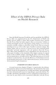how to write a bibliography for a research paper 5 effect of the hipaa privacy rule on health research beyond the page 199