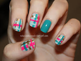 rebecca likes nails glad in plaid