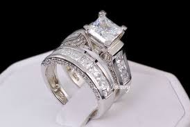 wedding ring sets cheap 14k gold wedding ring set ebay
