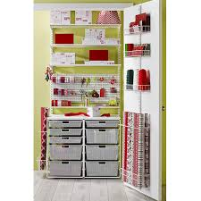 gift wrap cart white elfa wrapper s closet the container store