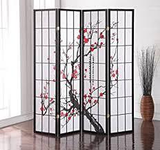 amazon com roundhill furniture black japanese 4 panel screen room