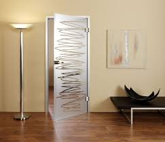 frosted interior glass door with elegant design