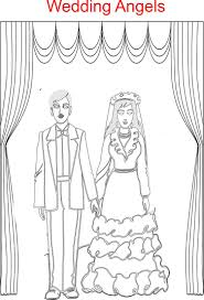 wedding angels printable coloring page for kids
