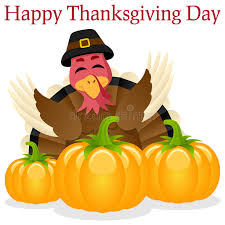 happy thanksgiving turkey and pumpkins stock vector image 45759951