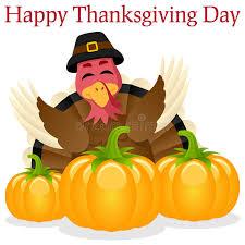 turkey pumpkins happy thanksgiving turkey and pumpkins stock vector illustration
