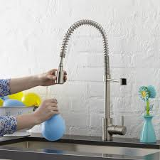 the foodie single handle pull down pre rinse kitchen faucet