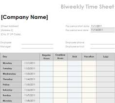 5 bi weekly timesheet template procedure template sample