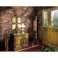 home depot interior wall panels null 1 4 in x 48 in x 96 in kingston brick hardboard wall panel