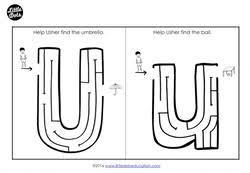 preschool letter u activities and worksheets little dots