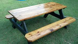 how to finish a table top with polyurethane wood picnic table top luxury another way to finish a picnic tableear