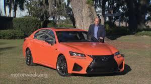 lexus gsf red motorweek track test 2016 lexus gs f youtube
