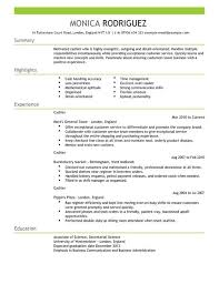 cashier resume template cashier cv exle for sales livecareer