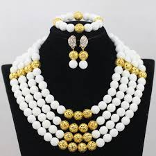 beaded jewelry design necklace images 2017 latest 4layer coral carvingafrican beads jewelry set whit red jpg