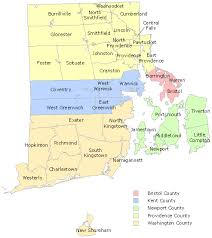 map rhode island labor market information map of ri counties cities and towns ri