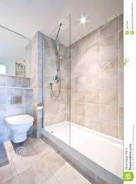 modern en suite bathroom with large shower royalty free stock