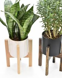 mid century modern planter mid century planter stand modern