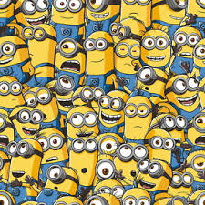 minion wrapping paper despicable me sea of minions 10m wallpaper kids bedroom minion