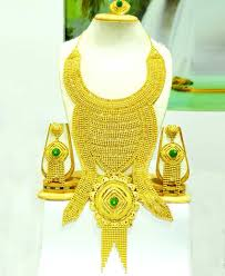 bridal gold set bridal gold necklace set heavy jewelleries designs