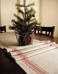 farmhouse decor farmhouse table runner grain sack table runner