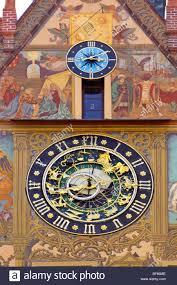 astronomical clock ulm town hall ulm swabian jura stock photo