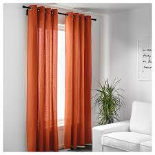 Burnt Orange Curtains Sale Mariam Curtains 1 Pair Ikea