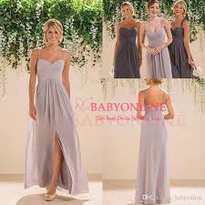 2016 new cheap summer boho bridesmaid dresses with split