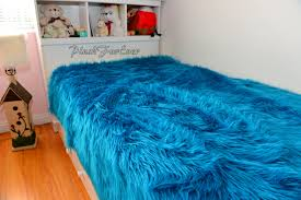 Faux Fur King Size Comforter New Turquoise Teal Shaggy Luxury Faux Fur Bedding Boy Nursery